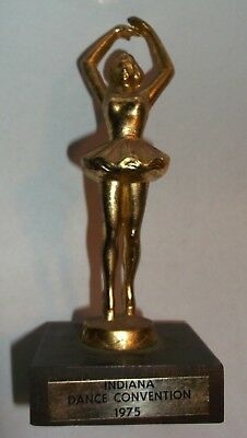 """Vintage 1975 """"Indiana Dance Convention"""" Girl's Trophy"""