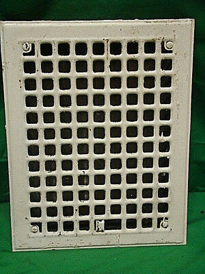 Antique Iron Heating Vent Grate Square Design 14 X 11  D