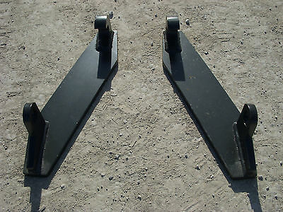 Global Quicke Euro Tractor Attachment Weld on Mounting Brackets Part - Free Ship
