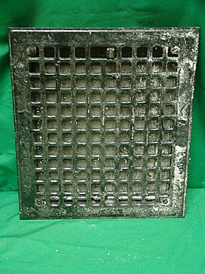 Vintage 1920S Iron Heating Grate Square Design 14 X 12 G