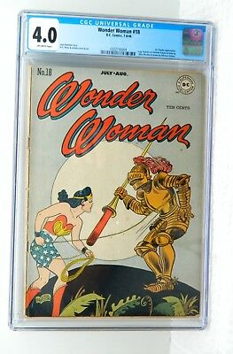 Golden Age Wonder Woman #18, DC Comics CGC Graded 4.0 Golden Age 7-8/46