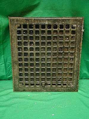 Vintage 1920S Iron Heating Grate Square Design 14 X 12 H