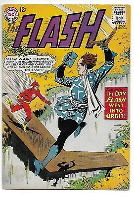 "THE FLASH #148 (Nov 1964, DC) Fine ""Day Flash Went Into Orbit!"""