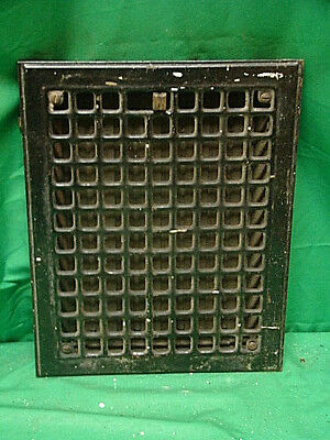 Antique Iron Heating Vent Grate Square Design 14 X 11  E
