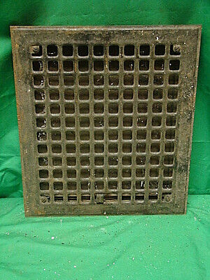 Vintage 1920S Iron Heating Grate Square Design 14 X 12 I