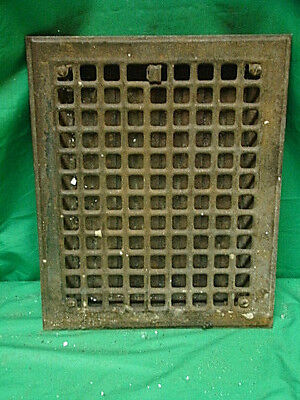 Antique Iron Heating Vent Grate Square Design 14 X 11  G
