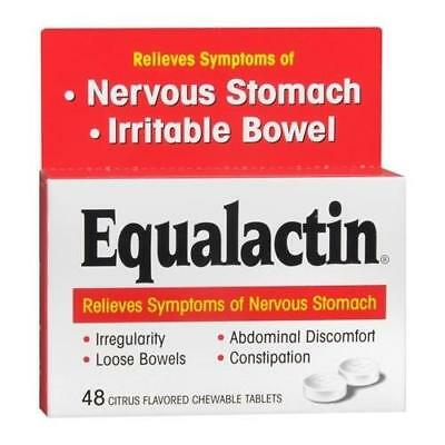 Equalactin Laxative Chewable Tablets Citrus Flavored 48 TB (2 Packs)