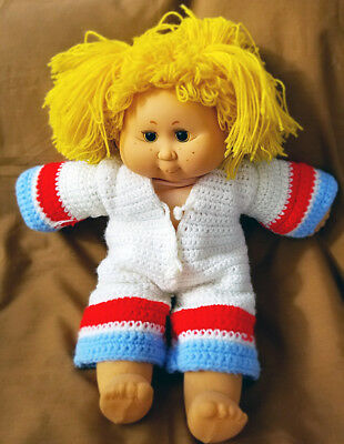 Vintage BB Made in Spain Cabbage Patch Type Doll Yellow Hair Freckles Sleep Eyes
