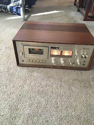 Kenwood Stereo Cassette Deck Player Recorder KX-1030 Powers Up w/ Lights Working