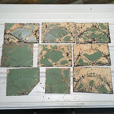 "9pc Lot of 12"" and under Antique Ceiling Tin Vintage Reclaimed Salvage Art"