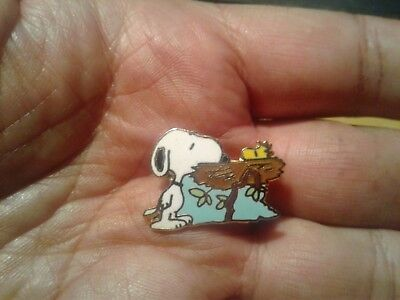 Vintage Aviva Snoopy, Woodstock and Nest Pin