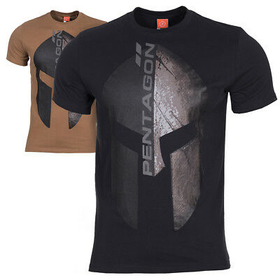Pentagon Eternity Men's Tactical Military Army Spartan Helmet Graphic T-Shirt