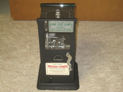 Antique Stamp Machine, Coin Operated Post Office! Counter top model 1930's Nice