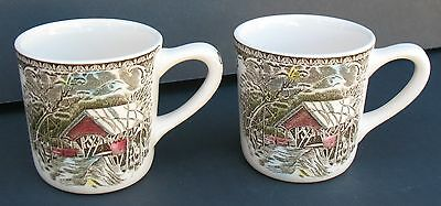 Johnson Bros Friendly Village Two Small Punch Cups Mugs England