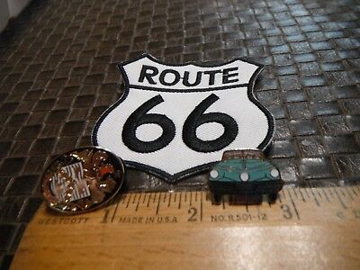 Tucker Automobile Pin & Tucker Emblem Pin & Route 66 Iron on Patch