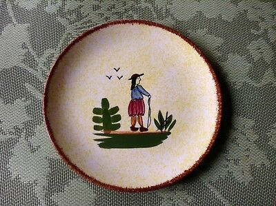 "Blue Ridge Pottery 8.5"" plate- Normandy Skyline Man. Very good condition."