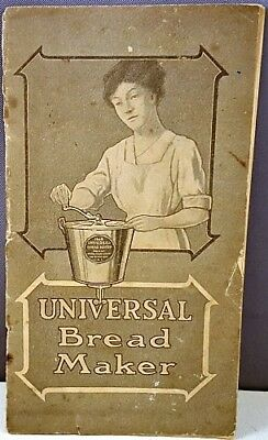 c1904 UNIVERSAL BREAD MAKER RECIPE BOOKLET Landers Frary and Clark, New Britain