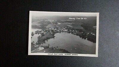 Rppc Kearney From The Air, Poplar Point Camps, Kearney, Ontario Real Photo