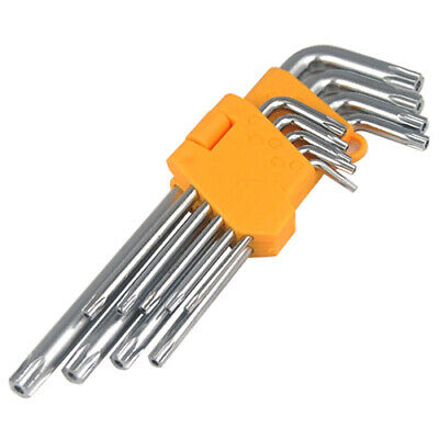9pc Offset Torx Star Key Security Anti-Tamper Tool Set Accessory - By TRIXES