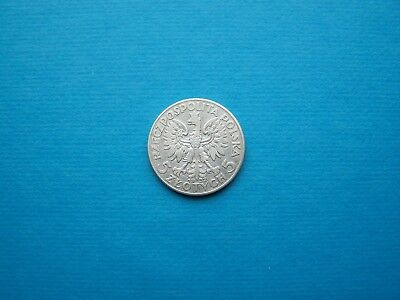 Poland Coins 1932 Year 5 Zloty Nice Silver Coin. Circulated, Great Condition.