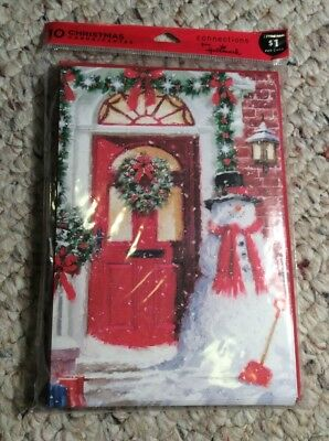 Lot of 10 Hallmark Christmas Cards Holiday - Less than $1 per Card  w/ envelope