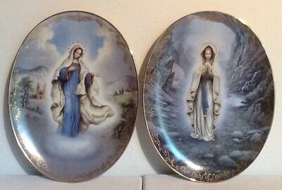 Lot 2 Bradford Exchange Visions Of Our Lady Plate Our Lady Of Lourdes Medjugorje