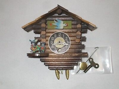 Vintage new Miniature Wooden Cuckoo Clock Germany Extremely Detailed VERY NICE!