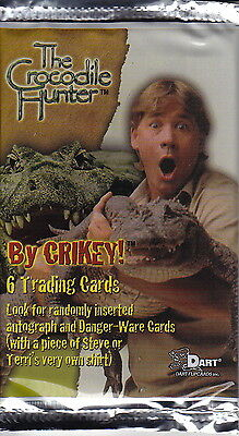 THE CROCODILE HUNTER - Trading Card Packs (18) by Dart Flipcards #NEW