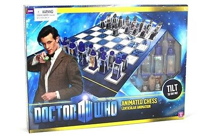 DOCTOR WHO - Lenticular Animated Chess Set (Character Group) #NEW