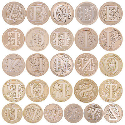 Letter ABC 26 Retro Copper Head Seal Classic Initial Wax Sealing Stamp Alphabet