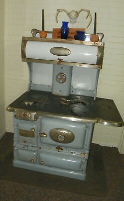 """Antique Buckwalter Wood / Coal Cook Stove """"Ivy Canopy"""" 408 Working Condition"""
