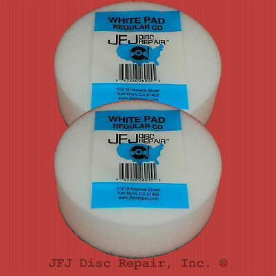 2x ORIGINAL WHITE BUFFING PAD FOR JFJ SINGLE / DOUBLE THICK PAD AUSTRALIA