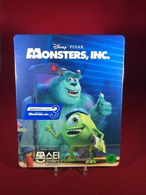 Disney PIXAR Monsters Inc. 1/4 slip Blu-ray STEELBOOK Kimchidvd RARE OOP NEW