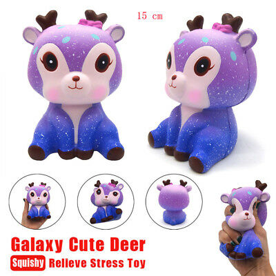 Galaxy Cute Baby Cream Jumbo Scented Squishy Slow Rising Squeeze Strap Kids Toy