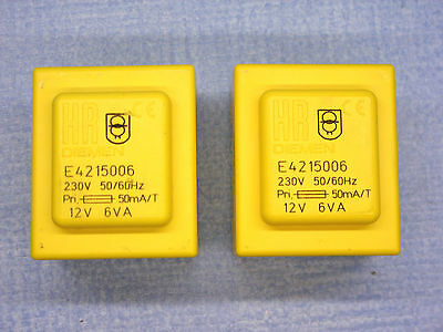 Quantity  Of  2  Pcb  Mounting  Encapsulated  Mains  Transformers  12 Volts  6Va
