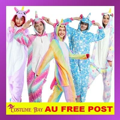 Adult Kids Olaf Fluro Unicorn Kigurumi Animal Onesie Pajamas Costume Sleepwear