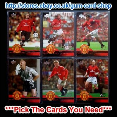 Upper Deck Manchester United 2001-02 *Pick The Cards You Need*