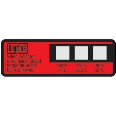 Daymark 117174 - Dishwasher Temperature labels 3 in 1 Thermostrips