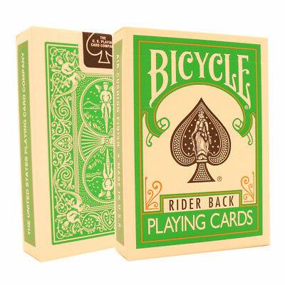 Green Bicycle Cards - Bicycle Deck - Rider Back USA Made - Poker Size