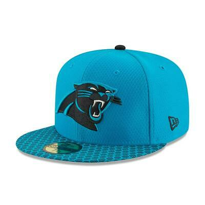 New Era 59Fifty Fitted Cap. On Field Nfl Sideline. Carolina Panthers. Rrp £32