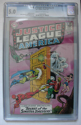 JUSTICE LEAGUE OF AMERICA #2  CGC 5.0 VG/FN! Early Silver Age JLA! DC Comics!