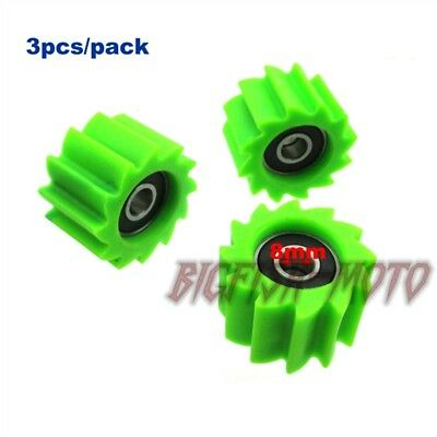 3x Pulley Tensioner Chain Guide Roller For KX 250F KX450F 2006 - 2016 Dirt Bike