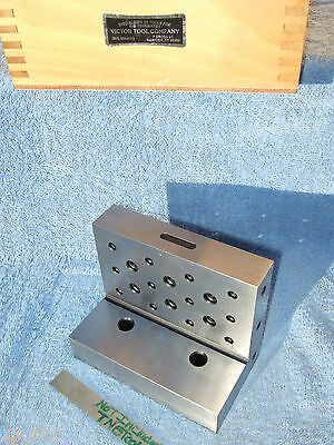 ANGLE PLATE 654 VICTOR TOOL Co. MERIDEN Ct. MACHINIST PRECISE INSPECT GRIND MILL