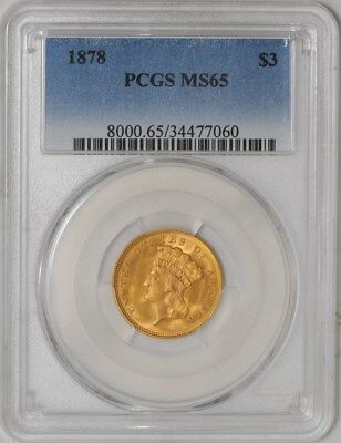 1878 $3 Gold Indian MS65 PCGS
