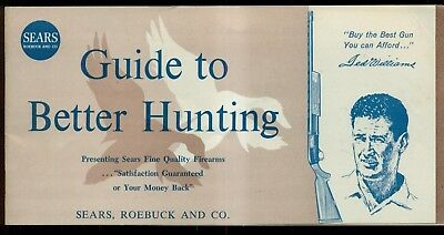 "Vintage Sears, Roebuck and Co. ""Ted Williams"" Guide to Better Hunting Catalog"