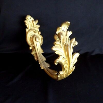 Vintage Wall Hook Tie Back Bronze Gold Hardware Art Nouveau French Drape Antique