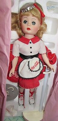 1999  in box w papers  MADAME ALEXANDER COCA COLA CAR HOP- 13 inch tall