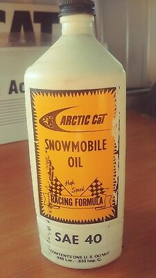 Rare Vintage 50 Year Old Arctic Cat Snowmobile Oil  Container