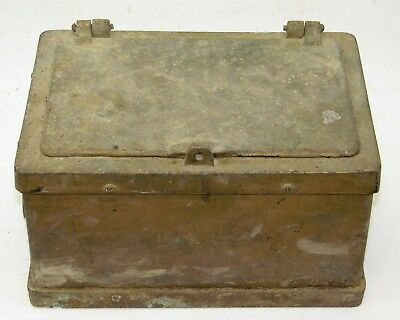 Antique Cast Iron Strong Box Jewelry Fire Safe