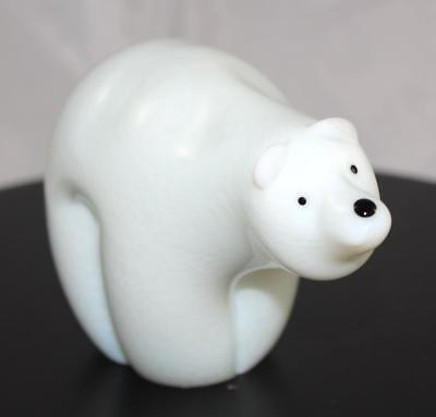 Glass Polar Bear Statuette - Orient & Flume - New From Gallery - (6086)